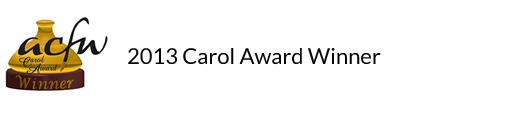 2013 Carol Award Winner for Lost Legacy